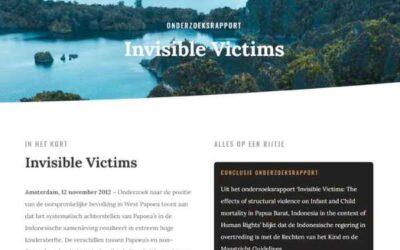 Positie Papoea's resulteert in hoge kindersterfte