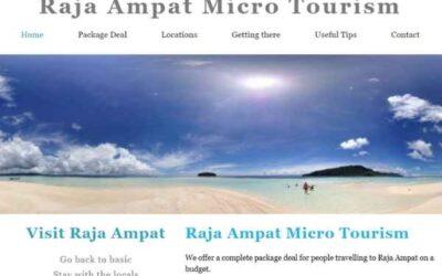 Nieuwe website voor project Micro tourism Raja Ampat