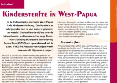 Kindersterfte in West-Papoea – VVKV