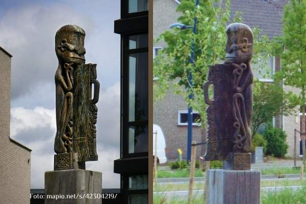 SDSP - Korwar beeld bronzen afgietsel